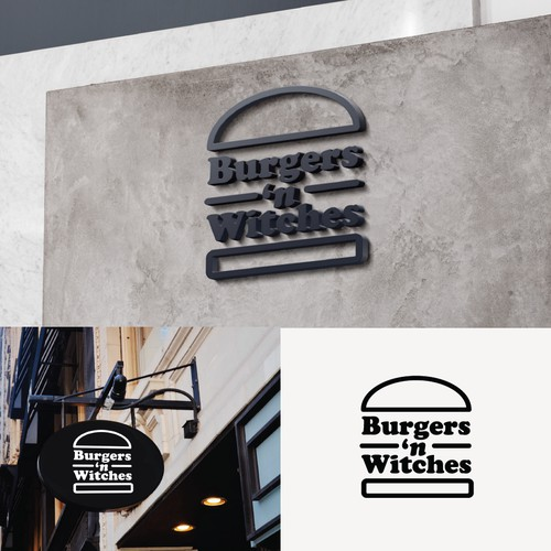 Logo for Burgers'n Witches, Hipster Food Joint