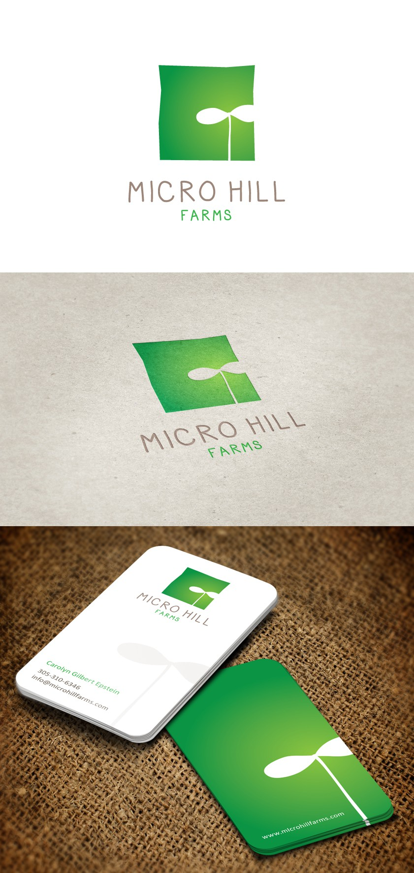 New logo and business card wanted for Micro Hill Farms