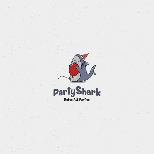 Partyhark logo with shark cute and simple