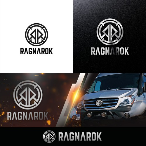 Logo for an adventure van named Ragnarok