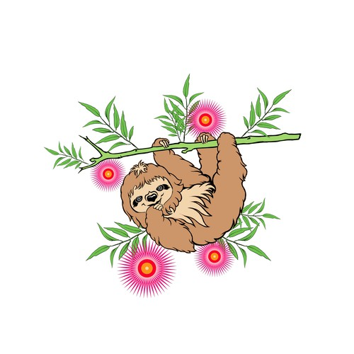 Illustration - Sloth.