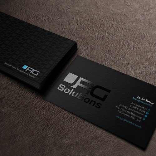 Design a business card for Event Managers, JRG Solutions