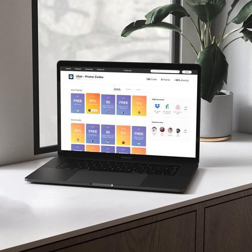 Promo Codes Website Design