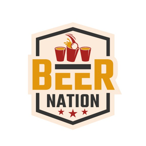 A Badge type logo of Beer Nation