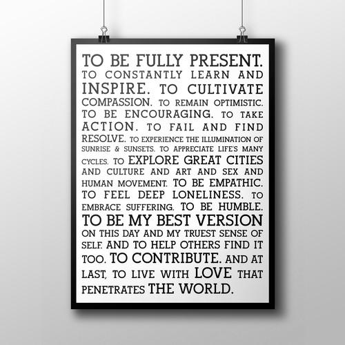 Poster Superior Self Mission Statement