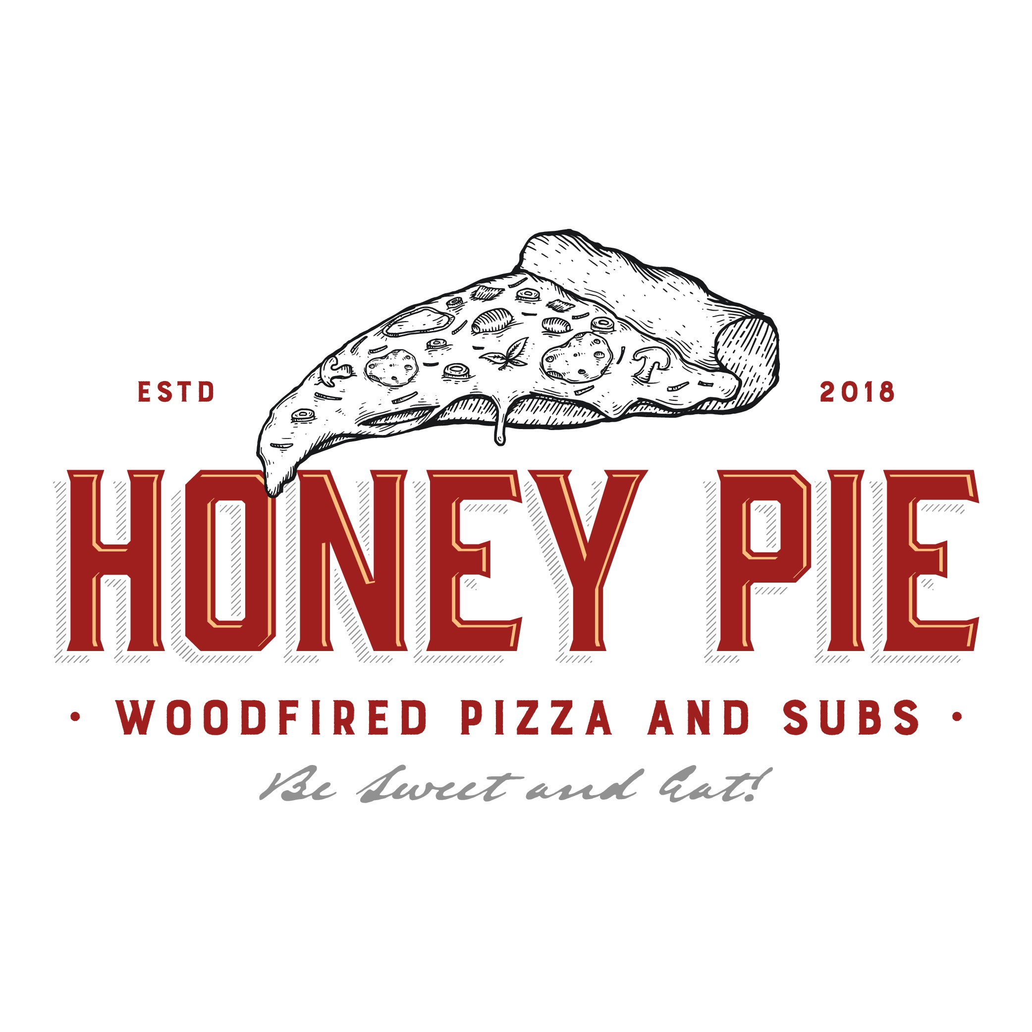 design a cool logo that best represents HONEY PIE!!!!  a woodfired pizza and subs joint