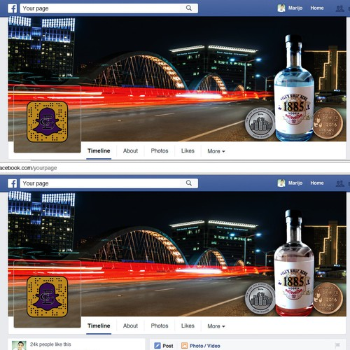 Hell's Half Acre 1885 Vodka Facebook Coverpage