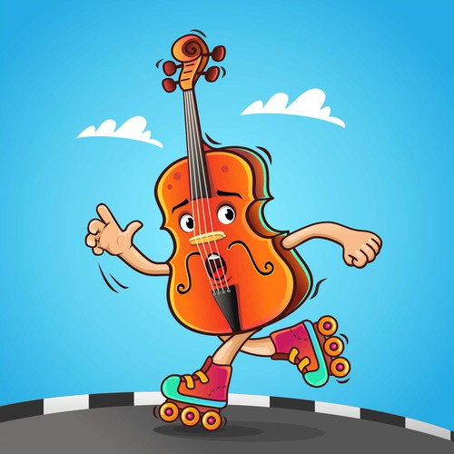 ntest Anthropomorphic Running Cello For Conference Banner