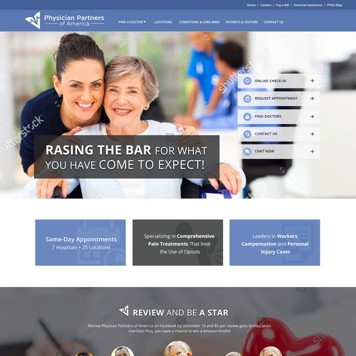 1 Page (Desktop & Mobile View) Medical Site Design