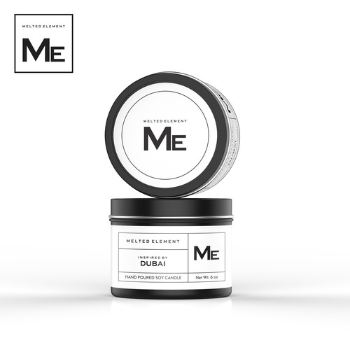 Design an ultra-modern, minimalistic label for a Luxury Candle