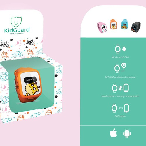 kid guard smart watch for kids