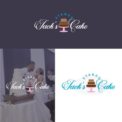 Elegant cake logo for wedding service.