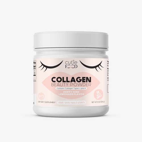 Collagen Beauty Powder Label
