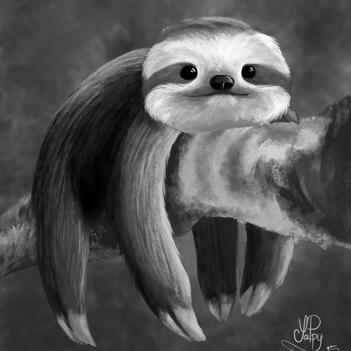 Illustration concept of a sloth