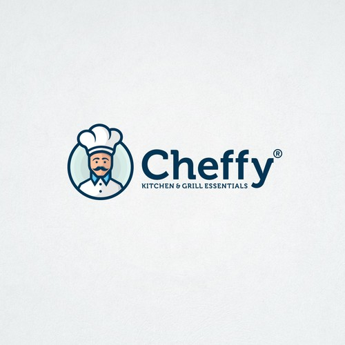Character logo for kitchen, patio, and lawn products shop.