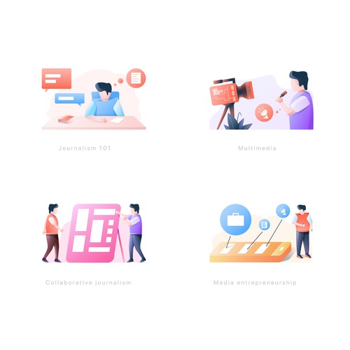 Illustration type icon for business consultation agency