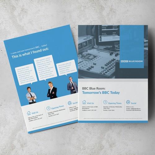 Modern Clean Leaflet Concept for BBC Blue Room