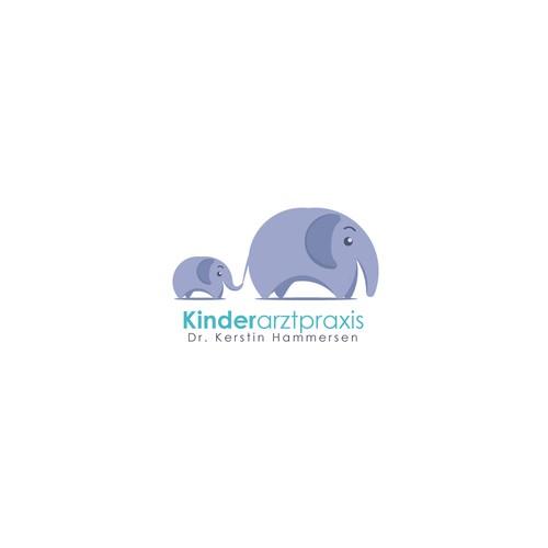 Elephant logo concept for Kinderarztpraxis