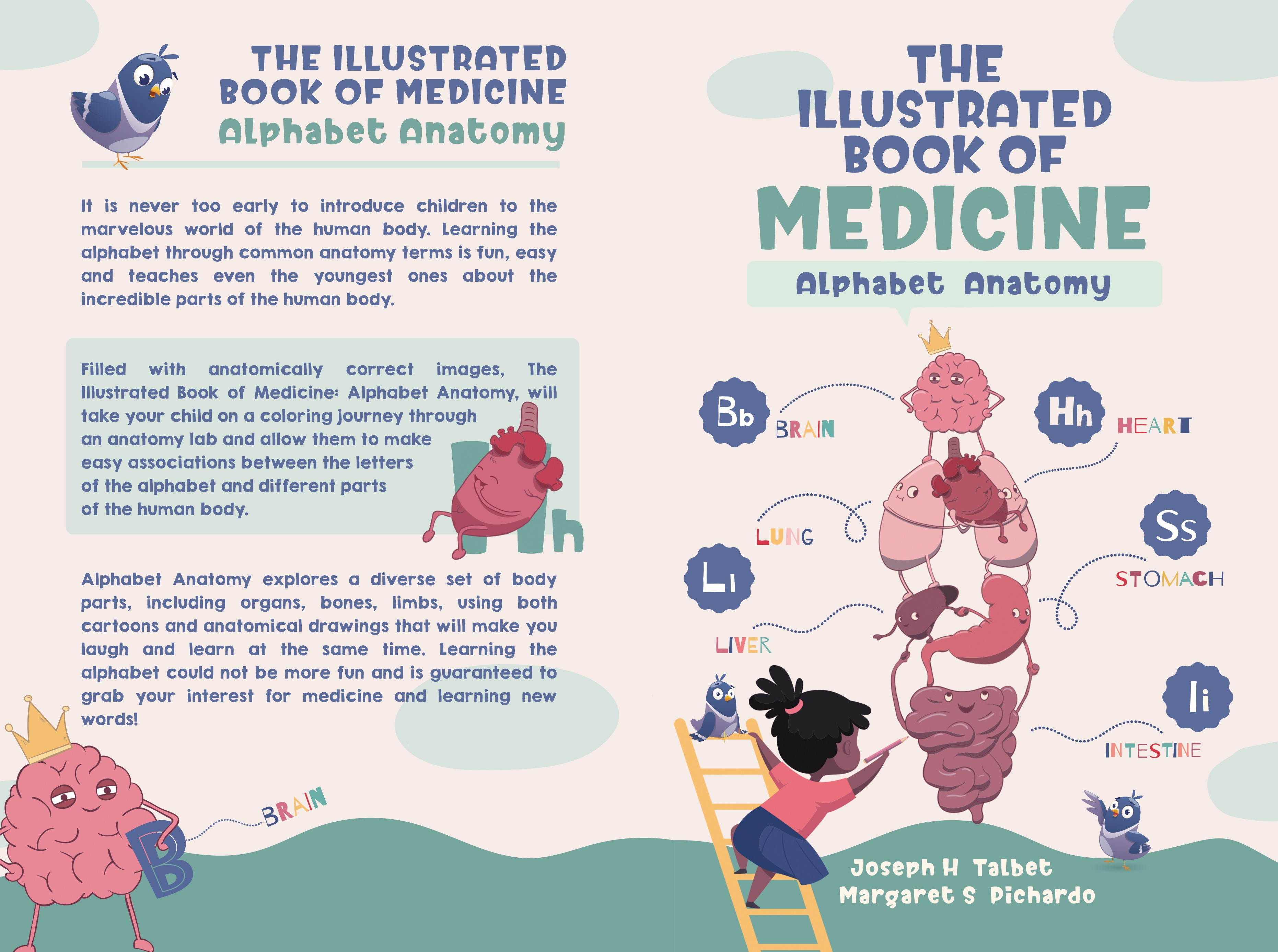 Alphabets and Anatomy Coloring bookcover