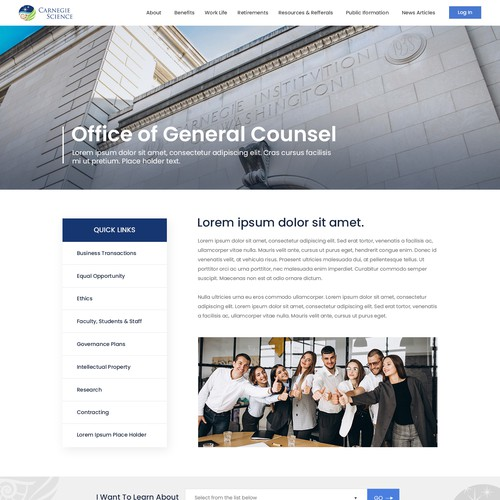Web design of 'Office of general counsel-for employee'
