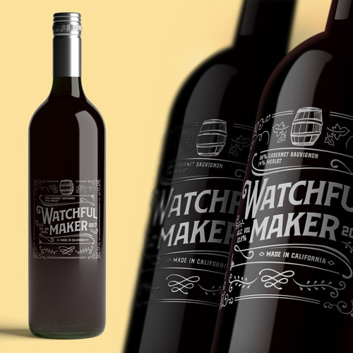 Watchful Maker - California Wine Label Concept