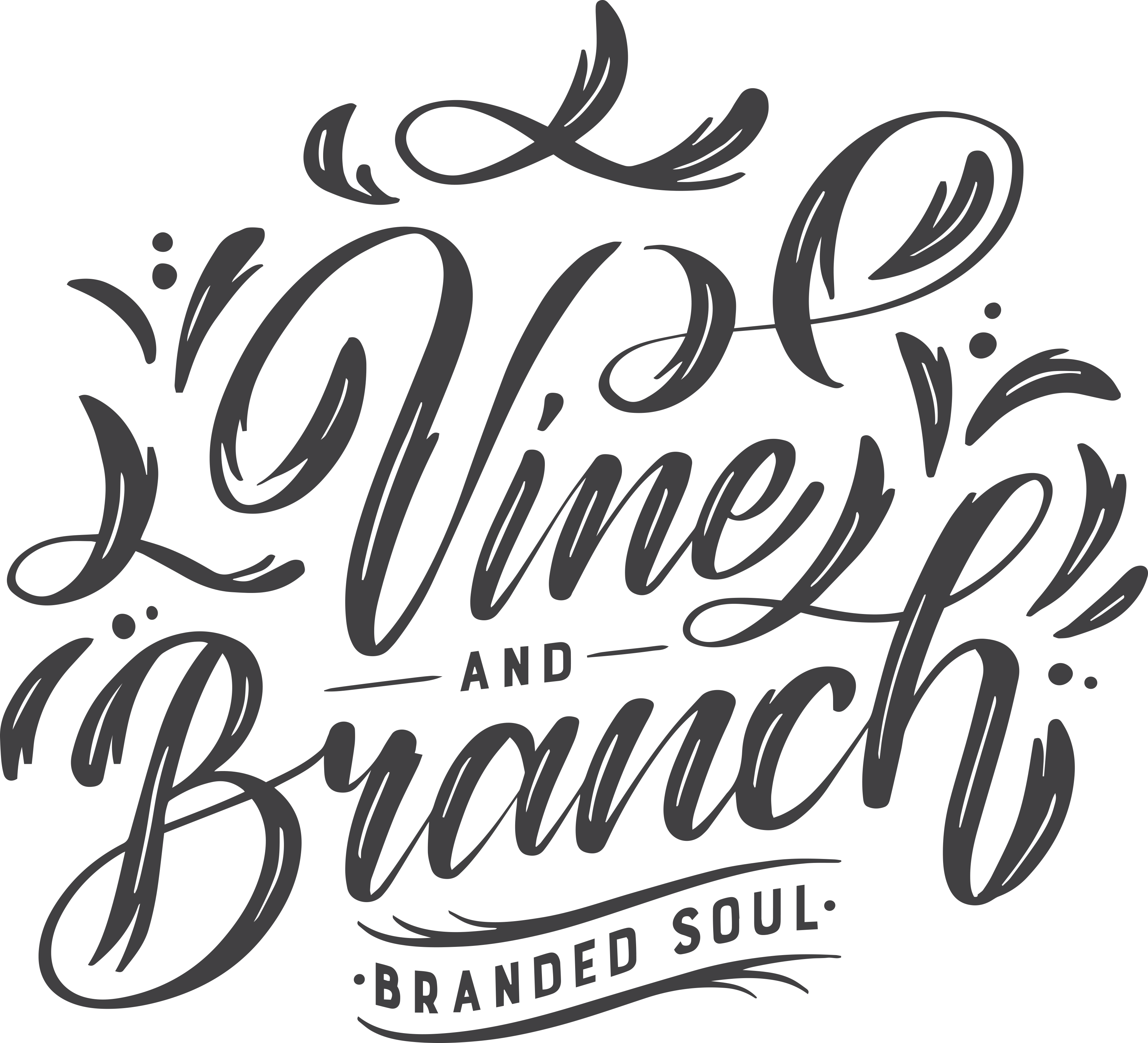 Vine and Branch Tshirt Design