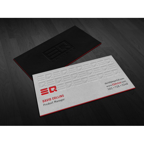 Create a business card and stationary for a Music Agency.