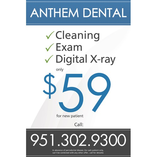 Create the next banner ad for Anthem dental