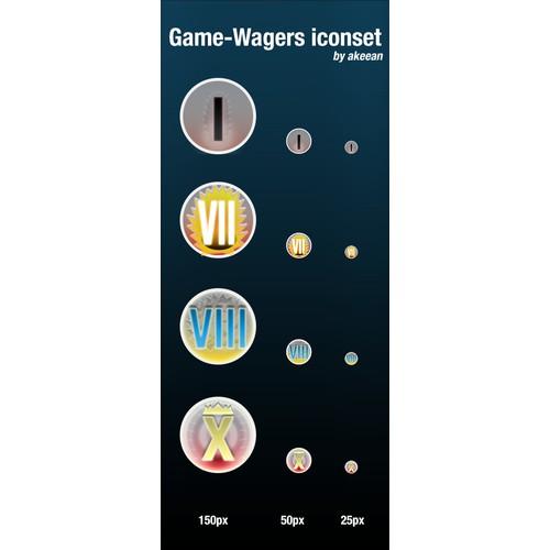 Badges for gaming website.