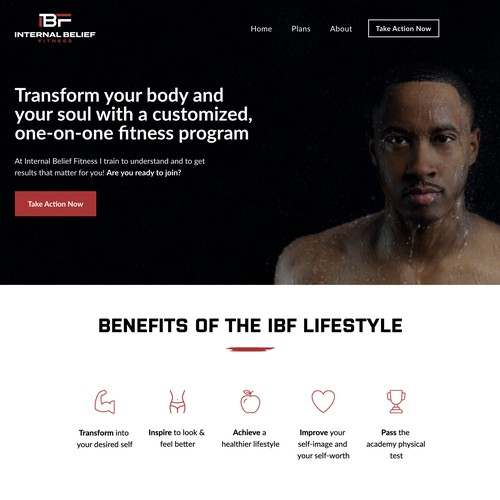 Personal Trainer Squarespace Website Design
