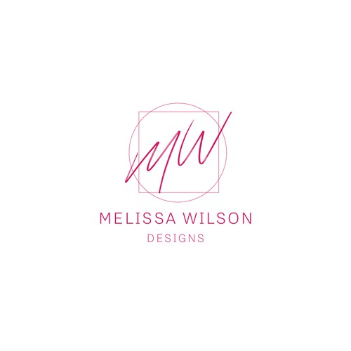 Minimalistic logo for designer