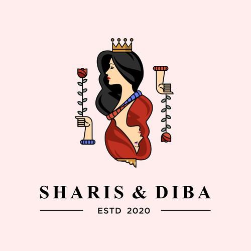 Feminine Logo Concept for Sharis & Diba