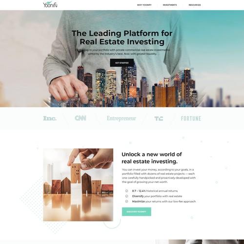 Webdesign for Yoonify - Real Estate Investment Advisors