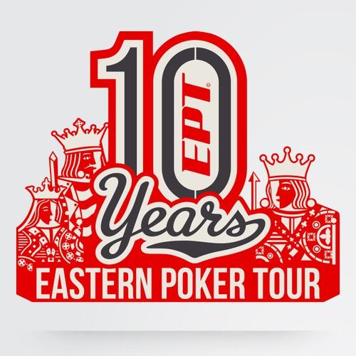 Logo for 10 Year Anniversary - Eastern Poker Tour
