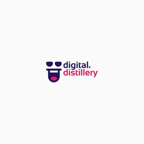 Modern, Youthfull and Fun Logo Digital Distillery