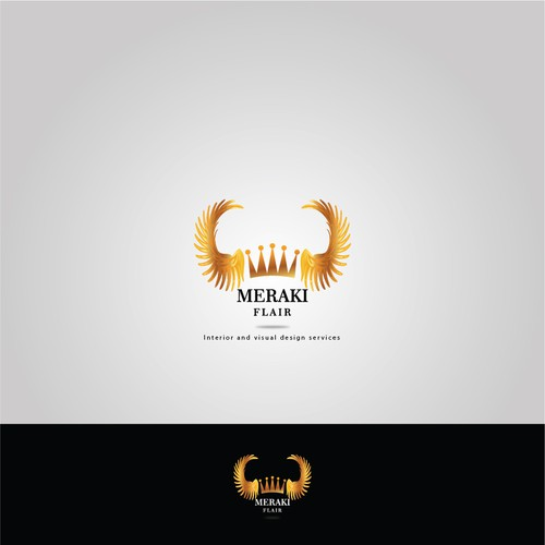 Gold accent logo concept for exclusive