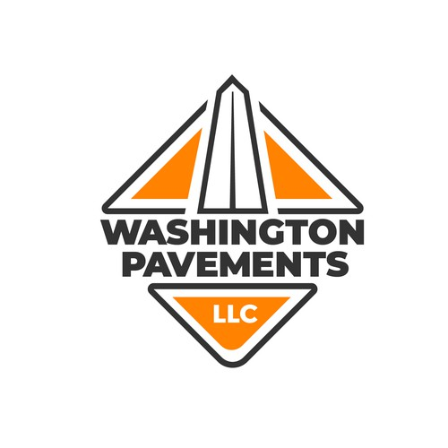 Clean Logo for Road Paving Company