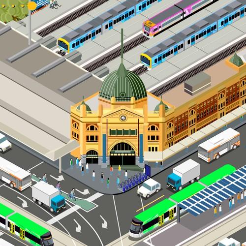 Infographic for Public Transport in Victoria Australia
