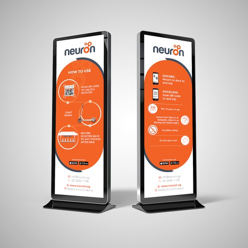 Neuron Mobility Station Signage Design
