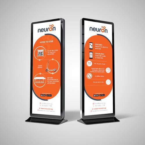 Neuron Mobility Station Signage Design