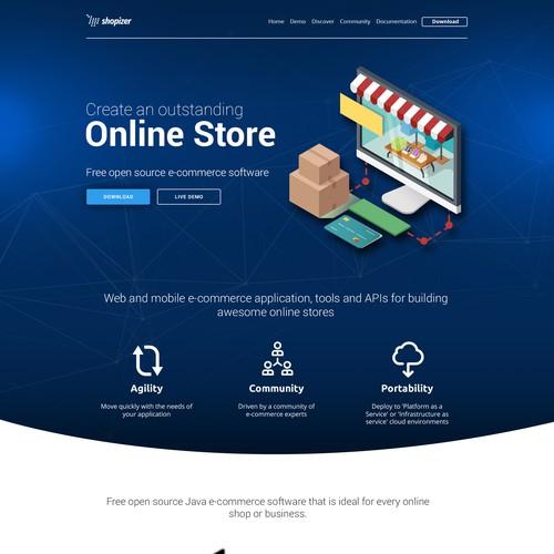 Landing page design - Shopizer