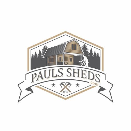 Pauls Sheds Logo design