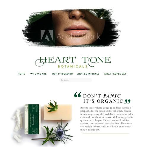 Web design for a beauty company