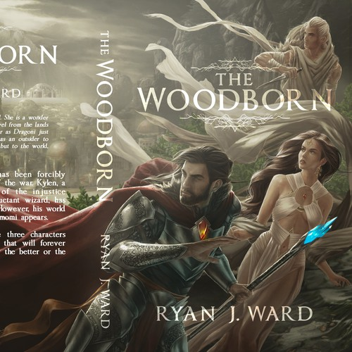 Book Cover Illustration for the Woodborn - Ryan J. Ward