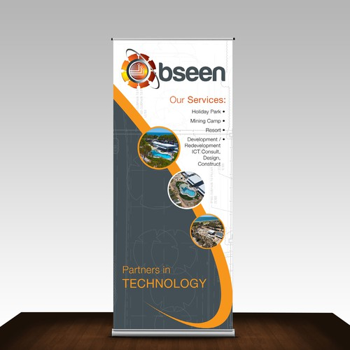 Trade show banner for bseen.