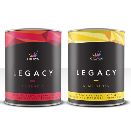 Crown Legacy paint labels