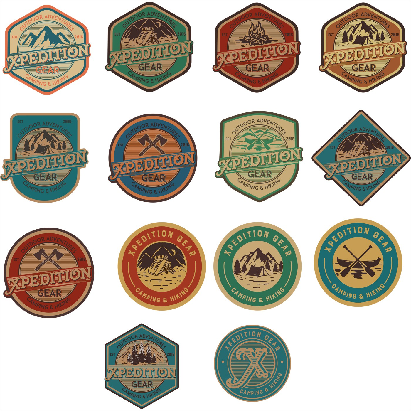 Logo enhancement for a premium vintage camping and hiking company