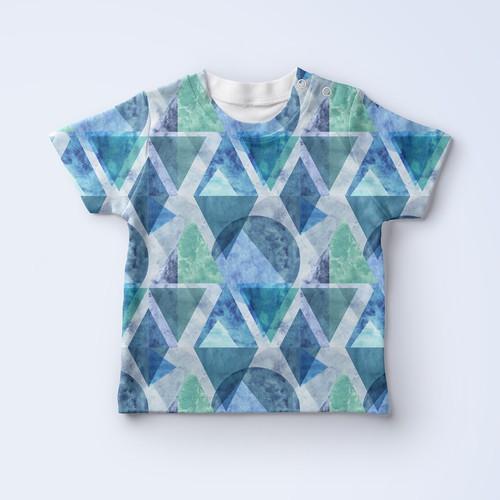 Scandinavian geometric pattern for kids