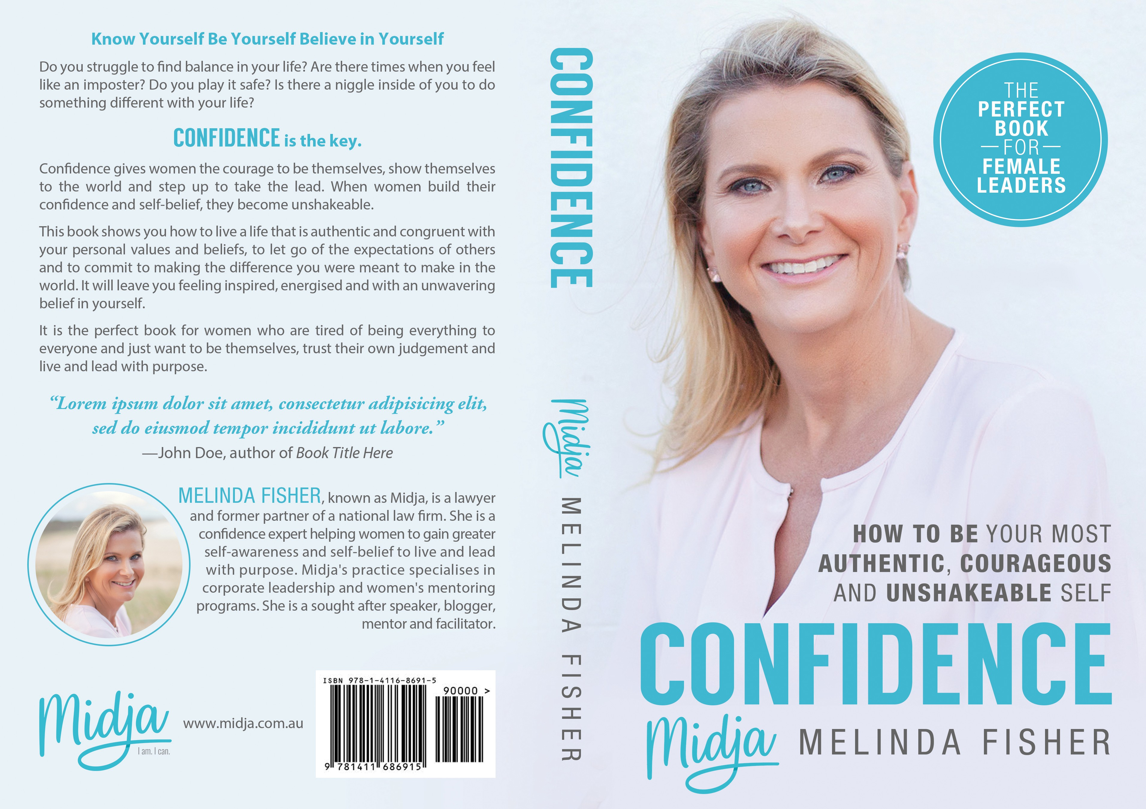 Who is Midja? Design her first book cover