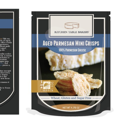 Create packaging for challenging awesome Parmesan Crisps Package